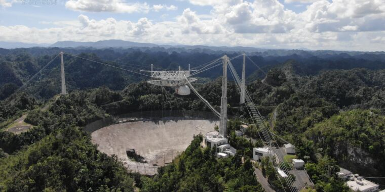Big dish of Arecibo observatory has reached the end of the line