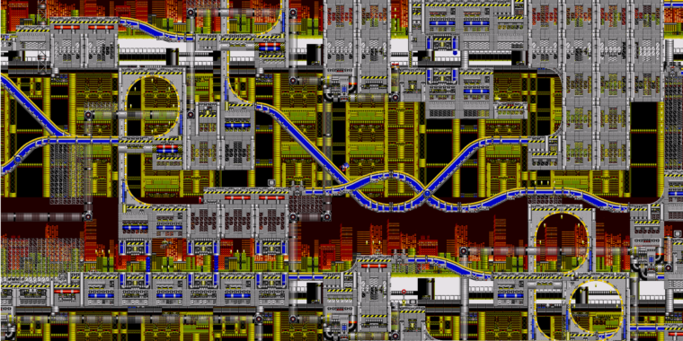PC fan port of early Sonic games lets you zoom the camera way, way out
