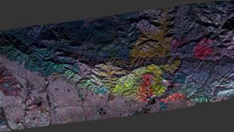 Color-coded radar maps reveal a patchwork of California wildfire destruction