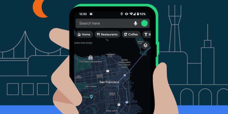 Google Maps for Android officially gets dark mode support