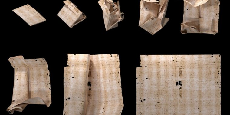 """Locked"" for 300 years: Virtual unfolding has now revealed this letter's secrets"