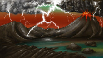 Phosphorus for Earth's earliest life may have been forged by lightning