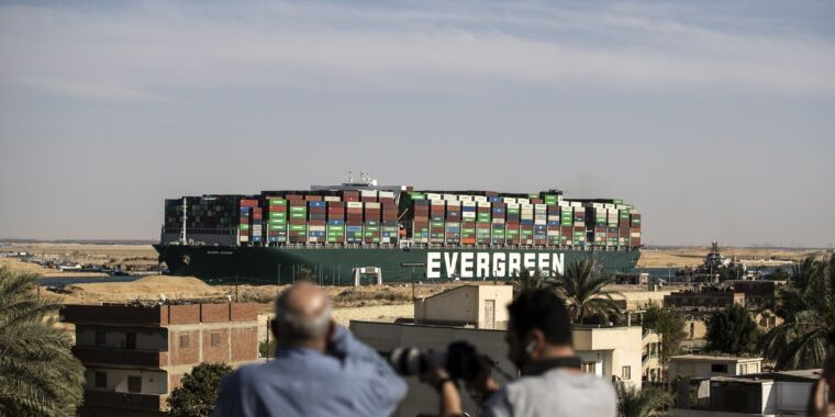 The massive cargo ship that blocked the Suez Canal is now moving again